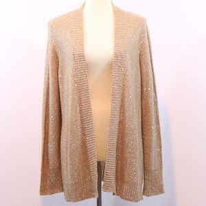 White Stag Sequin Open Front Cardigan